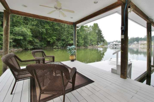 Boat House Sitting Area on Smith Mountain lake