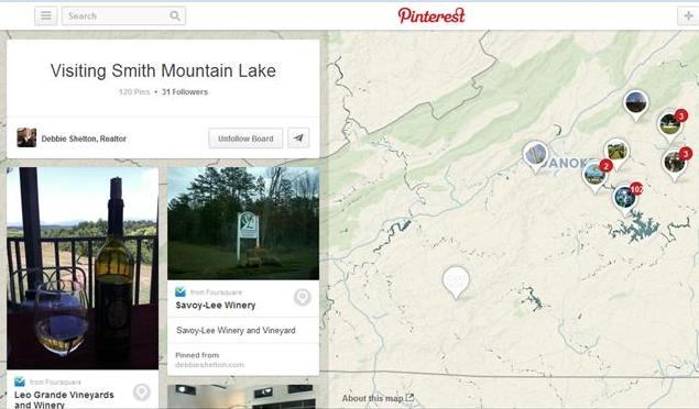 Pinterest Place Pinning for Your Smith Mountain Lake Vacation
