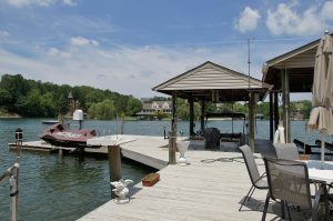 Deep water dock at 167 Windmere Trail - For Sale at Smith Mountain Lake