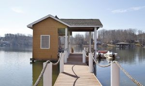 Private Dock at 3860 Bluewater - For Sale at Smith Mountain Lake