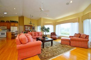Fantastic open living area with golf course views at 355 Chestnut Creek Drive Hardy, VA 24101