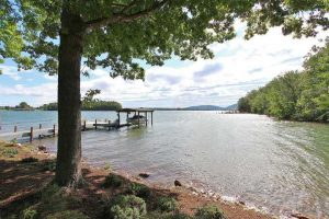 Shoreline and dock at 715 Tranquility Road-For Sale at Smith Mountain Lake